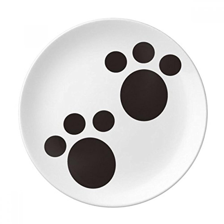 犬動物Claw Paw印刷保護動物装飾磁器デザートプレート8インチディナーホームギフト