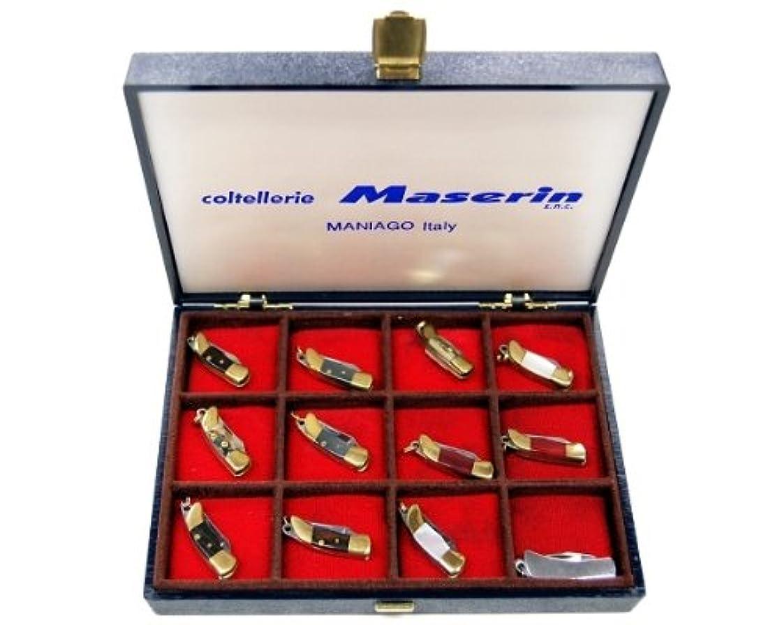 病確立難民マニアゴ MANIAGO ESPO12A ミニミニポケットナイフ 12丁セット ハンドル29mm