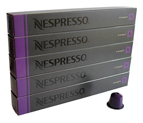NESPRESSO ネスプレッソ カプセル コーヒー アルペジオ 1本10カプセル×5本セット [並行輸入品]