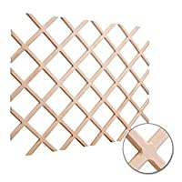 24 x 30 Wine Lattice Rack with Bevel. Species: Oak. Sold individually. by Hardware Resources