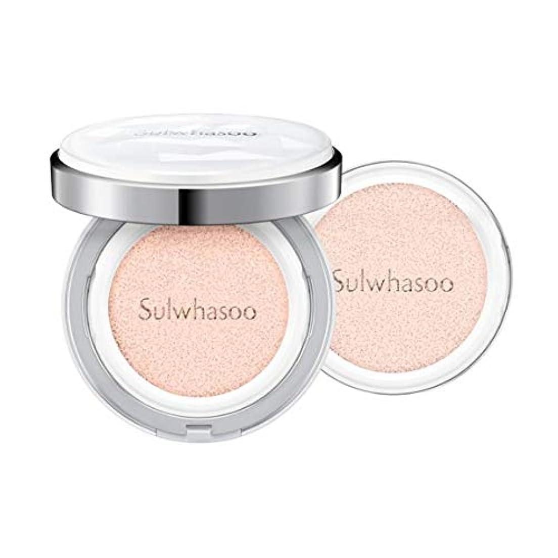 信念厳しい欲しいです[Sulwhasoo]雪花秀(ソルファス)滋晶(ジャジョン)ブライトニングクッション #21ナチュラルピンク SPF50+/PA+++ Snowise Brightening Cushion 21 Natural Pink