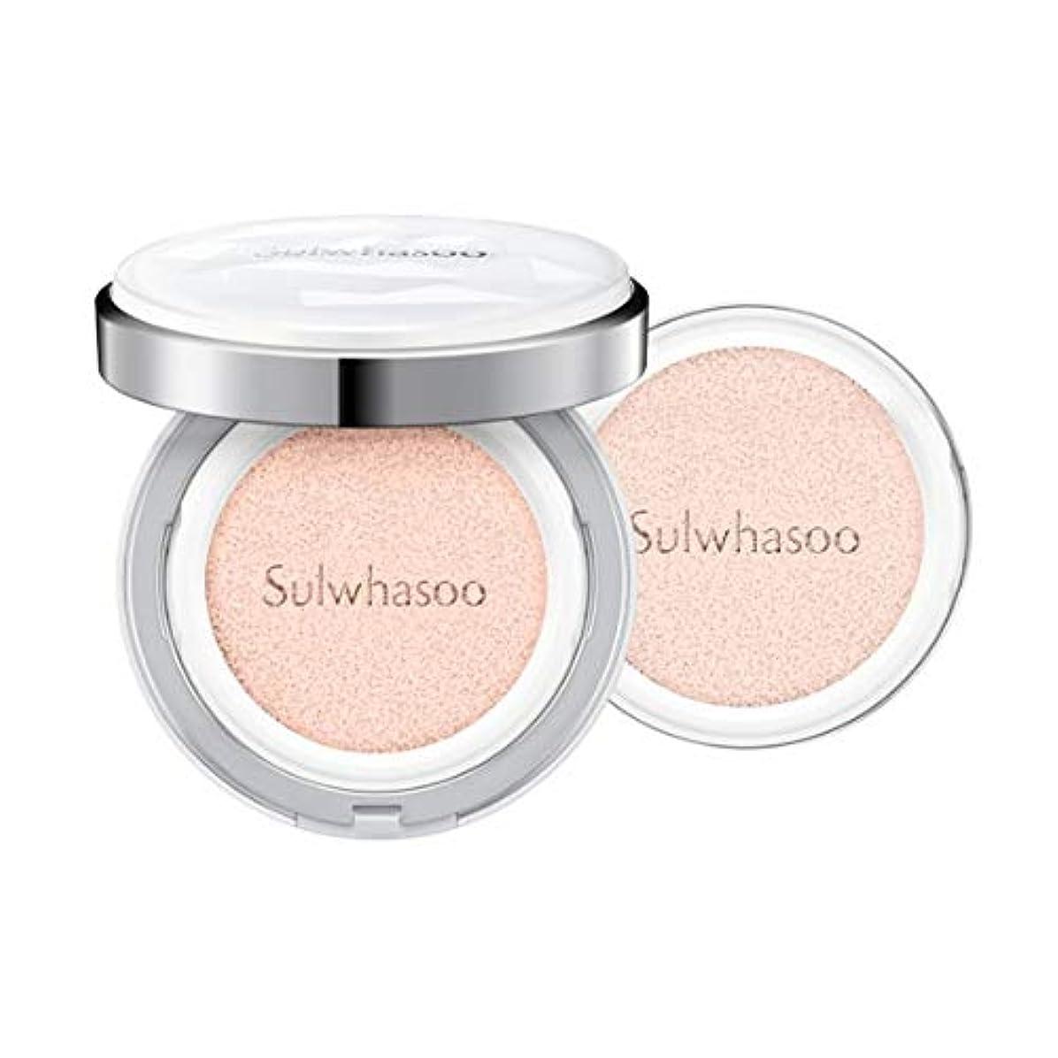 液体抵抗する固体[Sulwhasoo]雪花秀(ソルファス)滋晶(ジャジョン)ブライトニングクッション #21ナチュラルピンク SPF50+/PA+++ Snowise Brightening Cushion 21 Natural Pink
