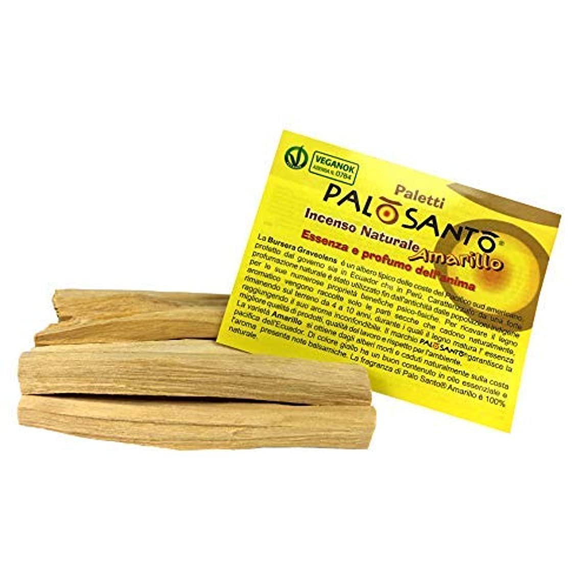 Palo Santo Sticks Amarillo - 天然香スティック - 瞑想、リラックス、不安、ヨガの香 - オリジナルBursera Graveolens聖ポールシャーマニック品質 - 12スティック