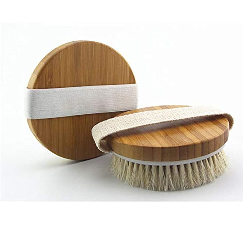 USAMS ボディブラシ 馬毛100% 角質除去 全身マッサージ 背中 バス用品 お風呂用 美肌