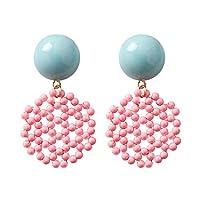PINKING ピアス レデイース アクリル スタッドピアス シンプル デザイン おしゃれ ファッシュン 魅力 美しい 文芸 美人 プレゼント ピンク