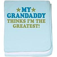 CafePress – Greatest Grandaddy – スーパーソフトベビー毛布、新生児おくるみ ブルー 053872020725CD2