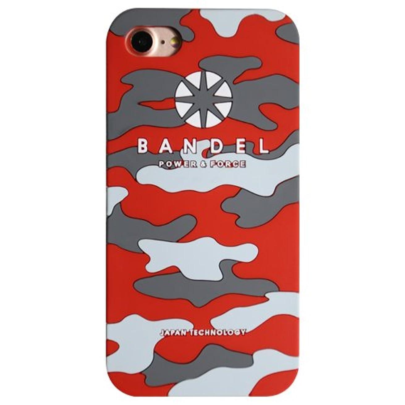 山岳ごめんなさい試すバンデル(BANDEL) ロゴ iPhone 8 Plus専用 シリコンケース [レッド×カモフラージュ]