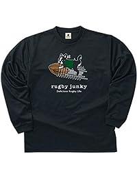claudio pandiani(クラウディオ・パンディアーニ) Rugby Junky スクリューpass! ロングDryTEE RJ17501 ブラック L