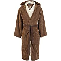 Official Star Wars Jedi Outfit Brown/Cream Adult Fleece Dressing Gown - One Size