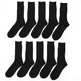 メンズ 靴下 抗菌 防臭 【大きいサイズ】 カラー リブソックス 26〜28cm 10足組 セット 黒