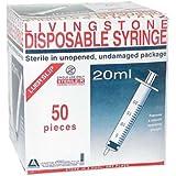 LIV SYRINGE 20ML LUER SLIP ECCENTRIC HYPO STERILE 50/BOX