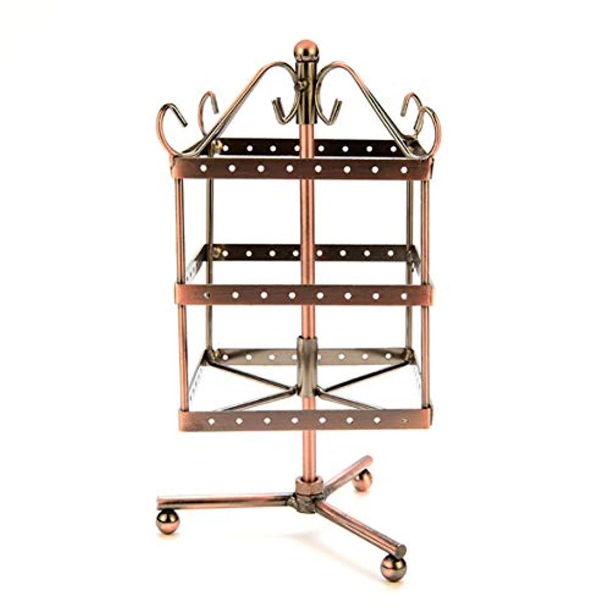 無効にするパッド弓Intercorey Jewelry Frame 96穴回転イヤリングホルダーアイアンジュエリーディスプレイスタンド三層イヤリングホルダーペンダント