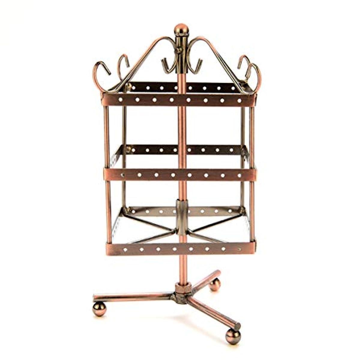 グレートオークジョイント署名Intercorey Jewelry Frame 96穴回転イヤリングホルダーアイアンジュエリーディスプレイスタンド三層イヤリングホルダーペンダント