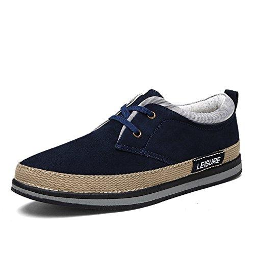[QIFENGDIANZI]メンズシューズ 紳士靴 カジュアルシューズ フィット感が高く 疲れを軽減 滑り止め 英国スタイル お洒落 オフィス デイリー  ネイビー 26.5cm