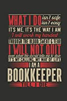 Notebook: Bookkeeper (120 Checkerd Pages, Softcover)