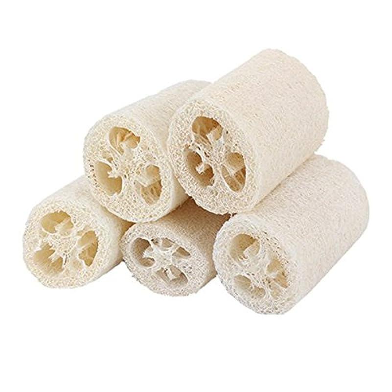 作る祝福する湿度ROSENICE 5個入り ヘチマ風呂スポンジ