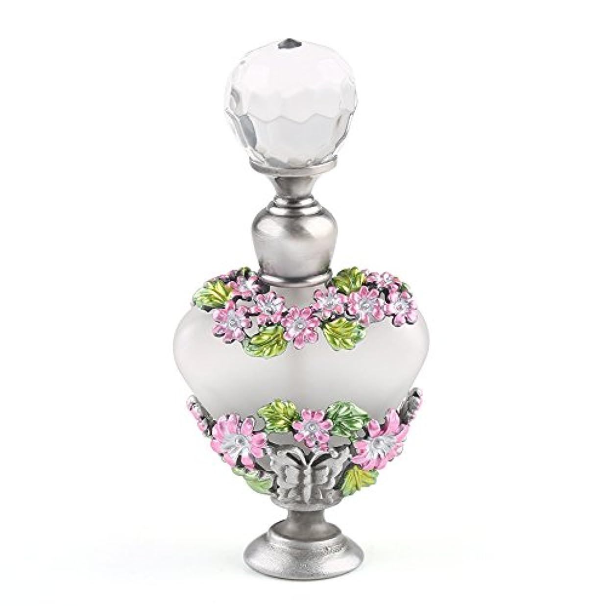 代数魅惑するモニカVERY100 高品質 美しい香水瓶/アロマボトル 5ML アロマオイル用瓶 綺麗アンティーク調 フラワーデザイン プレゼント 結婚式 飾り 58778