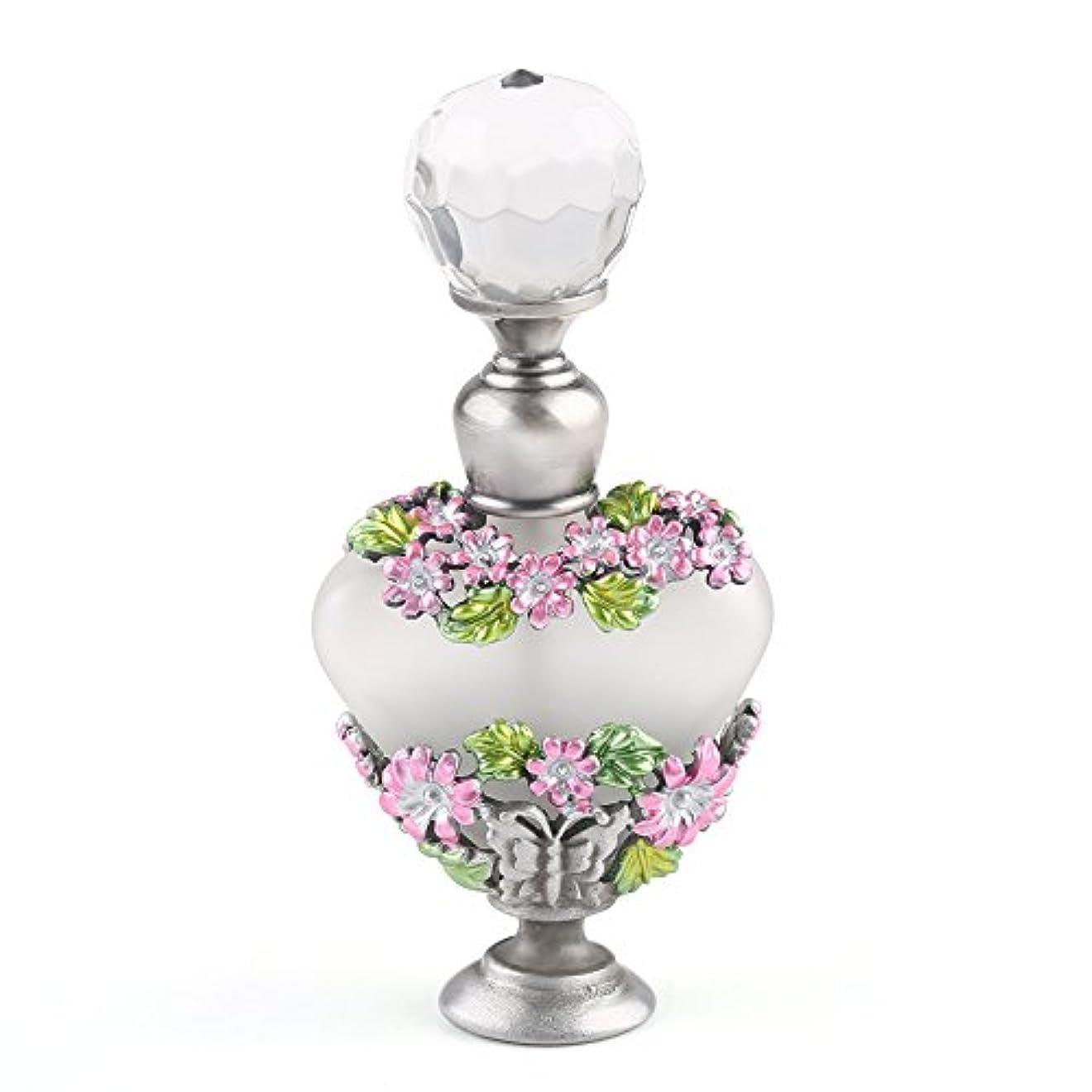 トピック好ましい酸VERY100 高品質 美しい香水瓶/アロマボトル 5ML アロマオイル用瓶 綺麗アンティーク調 フラワーデザイン プレゼント 結婚式 飾り 58778