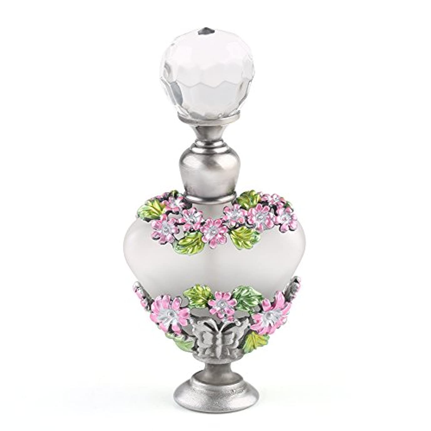 魅力スパイラル内訳VERY100 高品質 美しい香水瓶/アロマボトル 5ML アロマオイル用瓶 綺麗アンティーク調 フラワーデザイン プレゼント 結婚式 飾り 58778