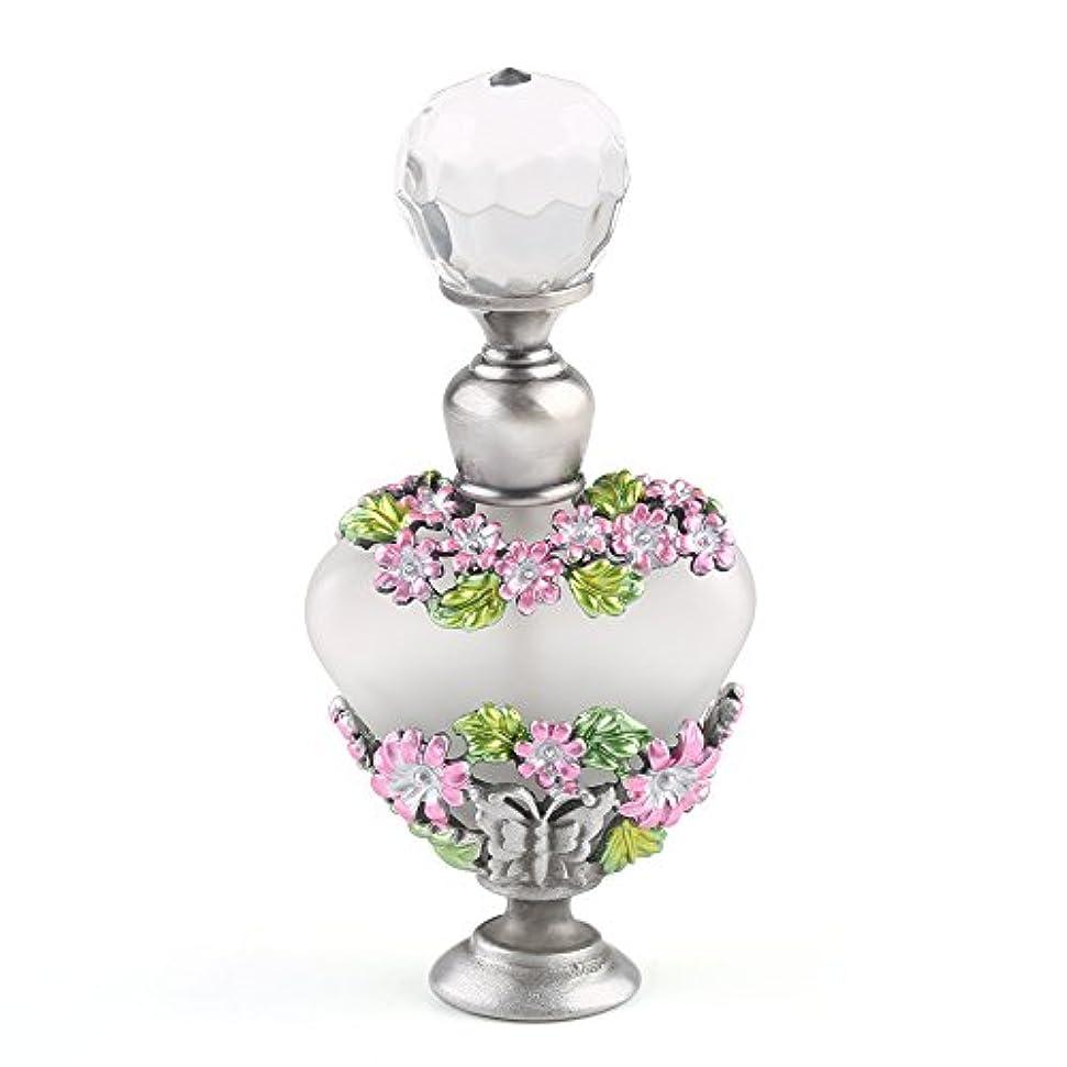ビーチ第とVERY100 高品質 美しい香水瓶/アロマボトル 5ML アロマオイル用瓶 綺麗アンティーク調 フラワーデザイン プレゼント 結婚式 飾り 58778
