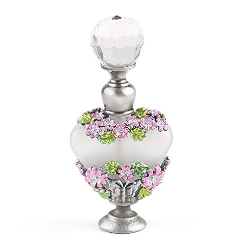 のヒープうるさいデータVERY100 高品質 美しい香水瓶/アロマボトル 5ML アロマオイル用瓶 綺麗アンティーク調 フラワーデザイン プレゼント 結婚式 飾り 58778