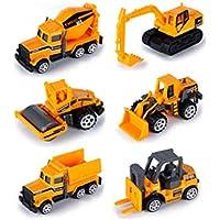 おもちゃの消防車のおもちゃのセット子供の教育のおもちゃ6個の合金の車のおもちゃ子供のための消防車を設定する ( Color : Engineering truck )