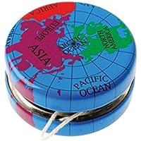 Lot Of 12 Globe Earth Design Metal Yo Yo's