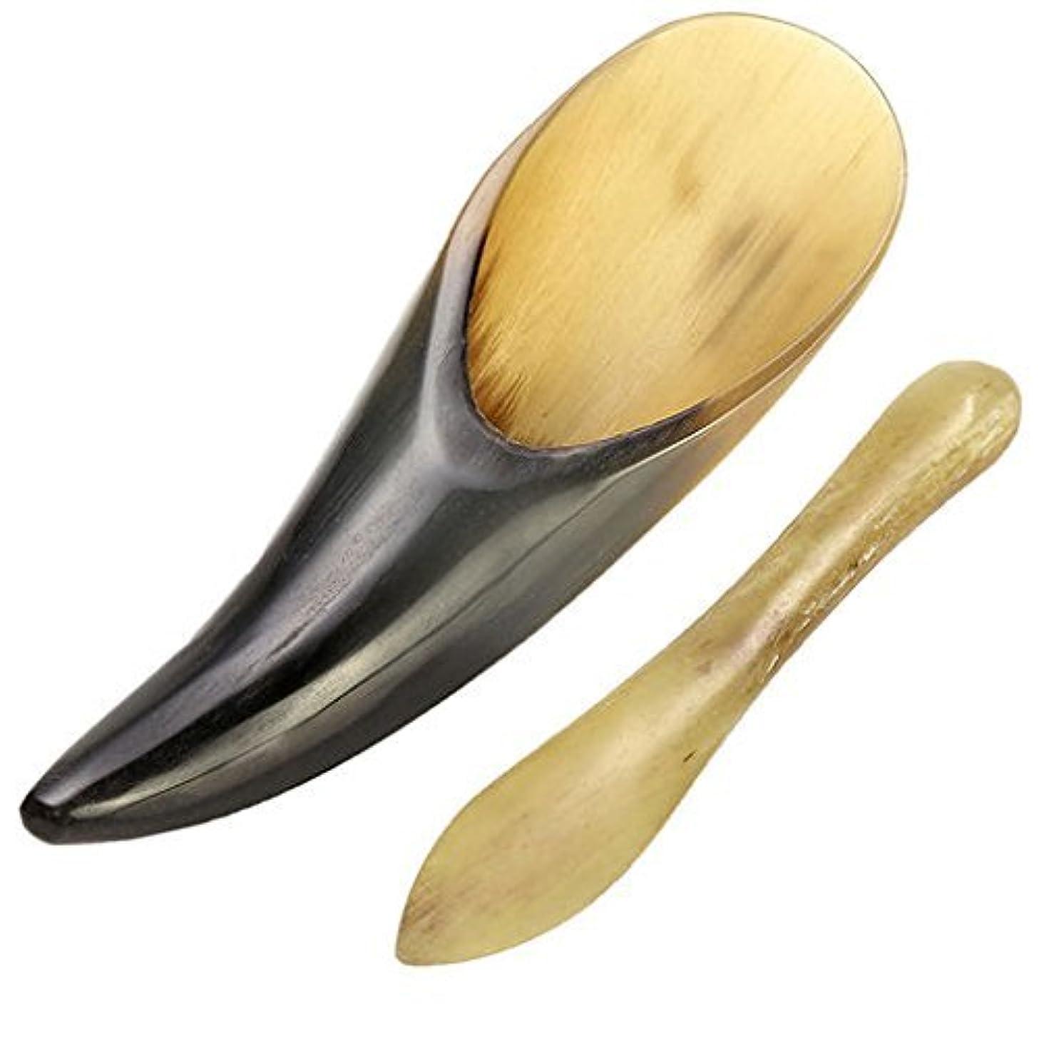 葉巻脱臼する恵みEcho & Kern 2点セット中国伝統かっさ美容マッサージ板 水牛角かっさプレート