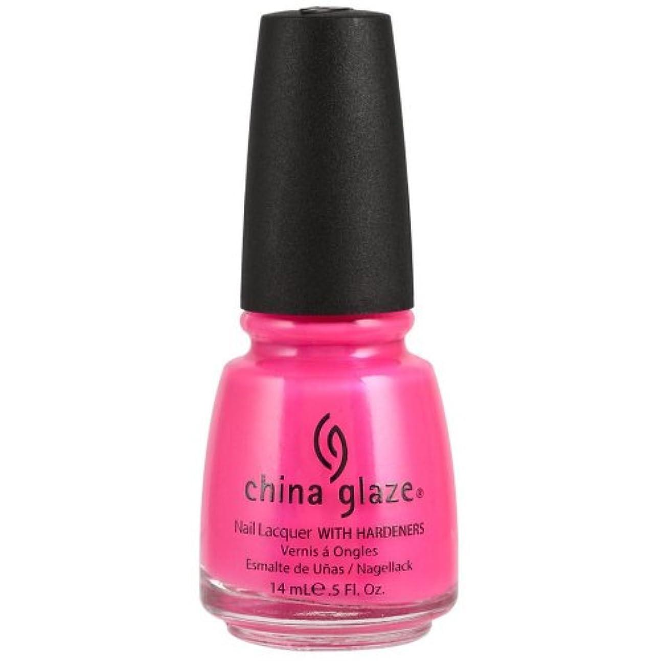 定期的に処方する成長するChina Glaze Nail Lacquer 1006 Pink Voltage 70291 (並行輸入品)