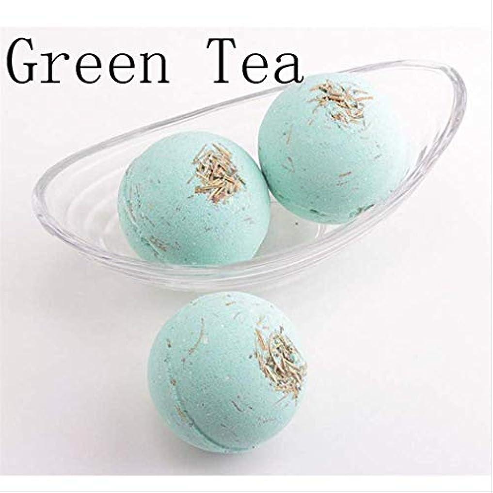 消化運命的な太い1 バスソルトバスボールナチュラルバブル 緑茶