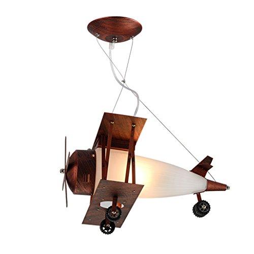 ASL 航空機のシャンデリア、子供の部屋の照明レトロな飛行機の照明の男の子のベッドルーム天井のライトLEDシャンデリアの照明E27シングルヘッド HAPPY ( サイズ さいず : 42*36*22cm )