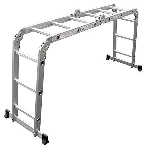 OneStep(ワンステップ) 多機能はしご アルミはしご 折りたたみ スーパーラダー 3サイズより選択可能 (3.7M)