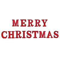joyMerit 14XRed木製の英語の手紙メリークリスマスパーティーの装飾飾り