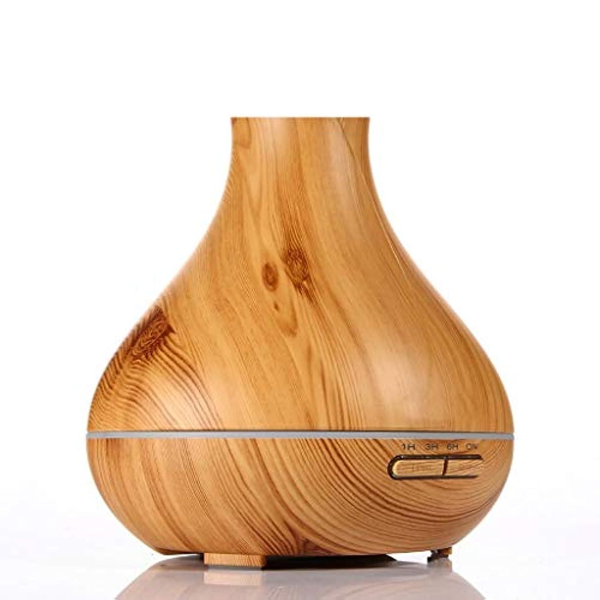 る定説事件、出来事RENJUN- アロマディフューザー 霧の量30ml / H 20?40㎡ 木目デザイン スーパーサウンドオフ 肌に潤いを与える 自動シャットダウン 300ml空気加湿器