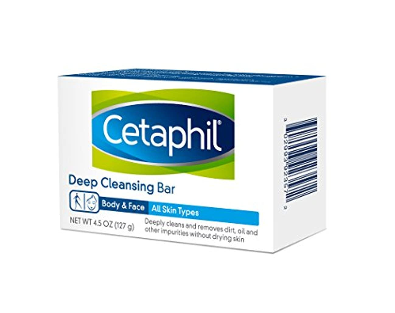 くぼみ援助お香Cetaphil Deep Cleansing Face Body Bar for All Skin Types 127g×6個セット 並行輸入品