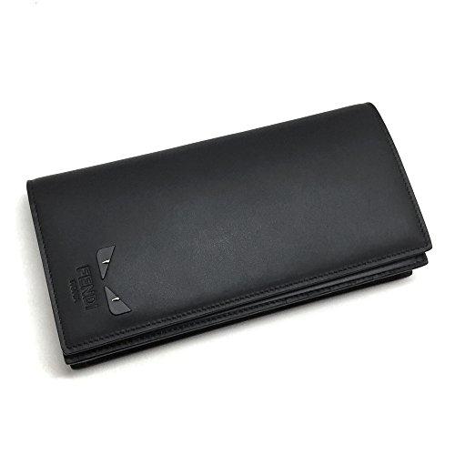 [フェンディ]FENDI 財布 メンズ バグズ アイ 7M0186 6OC F0GXN 二つ折り長財布 モンスター ブラック 黒 [並行輸入品]