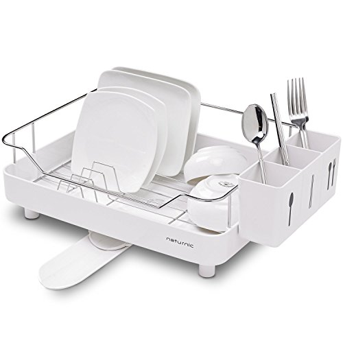 [Naturnic] シンプルなキッチンシンクウェアの食器棚、食器乾燥ラック、グッドグリップ、ステンレススチール (Simple Kitchen Sinkware Dish Rack, Dish Drying Rack, Good Grip, Stainless Steel) [海外直送品]