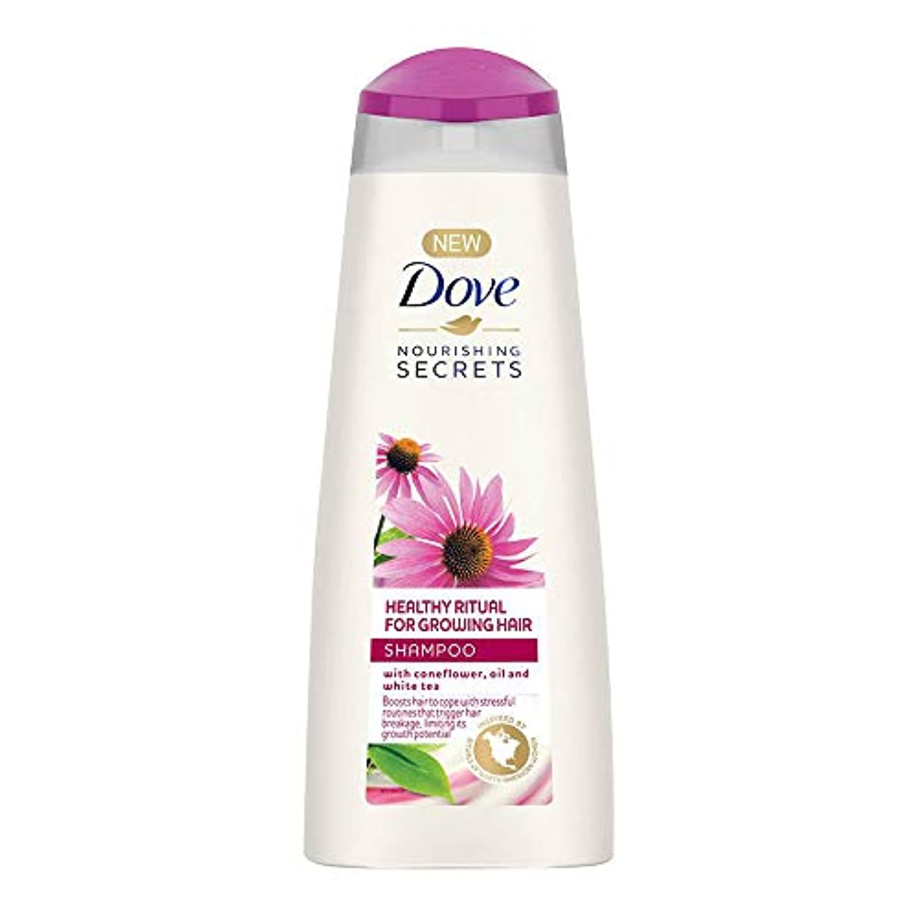 タップスカープリファインDove Healthy Ritual for Growing Hair Shampoo, 340 ml (Coneflower, Oil and White Tea)