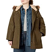 Madden Girl Womens Multi Pocket Insulated Coat Down Alternative Outerwear Coat