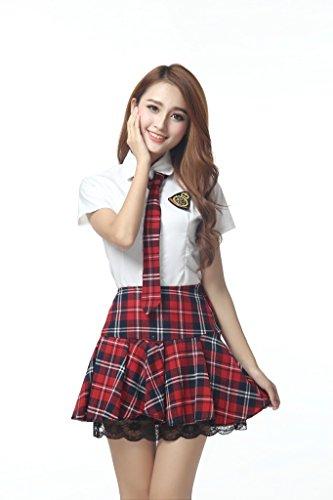 超カワイイ AKB風 制服コスプレ 清楚な 女子高生 チェック柄制服衣装 XLサイズ
