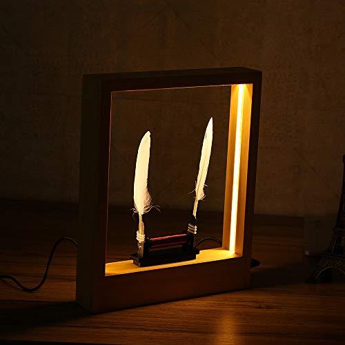 ダンスアートフォトフレームスローモーションLED光の彫刻デスクトップマジックモダンな装飾を遅らせます