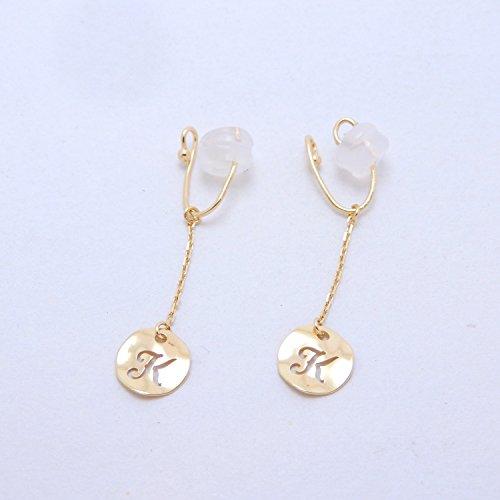 Initial Earring K 18金製 K18 gold ゴールド (日本製 Made in Japan) (金属アレルギー対応) イニシャル K ジュエリー [HJ] (イヤリング)