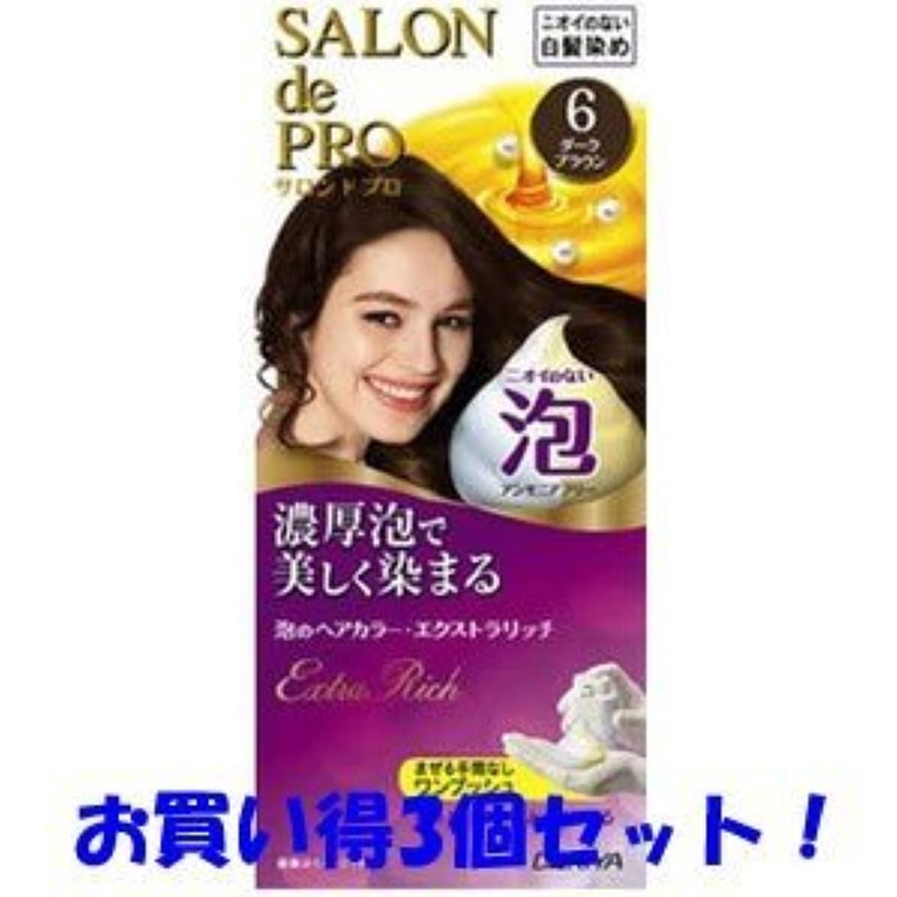 【ダリヤ】サロンドプロ 泡のヘアカラー?エクストラリッチ 6 ダークブラウン(医薬部外品)(お買い得3個セット)