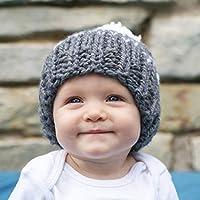 サクララ(Sakulala) チャイルドハット 帽子 ニット帽 ヨーロッパ ベビー キッズ 暖かい 秋冬 ハンドニット 親子ペア ポンポン 耳保護 防寒 防風 可愛い プレゼント かわいい