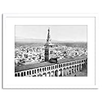 Vintage Photo Cityscape Minaret Bride Damascus Framed Wall Art Print