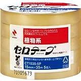 (まとめ) ニチバン セロテープ 大巻15mm×35m 業務用パック CT-15355P 1パック(5巻) 【×10セット】