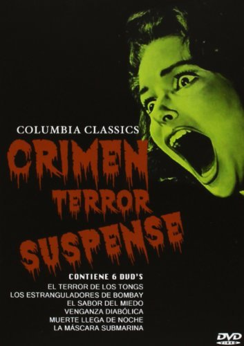 CRIME! TERROR! SUSPENSE! - The Terror Of The Tongs (1961), The Stranglers Of Bombay (1959), Scream Of Fear (1961), Maniac (1963), The Full Treatment (aka Stop Me Before I Kill!, 1960) & The Snorkel (1958) - Columbia Classics Region 2 PAL 6-DVD Box Set [Import] by Christopher Lee
