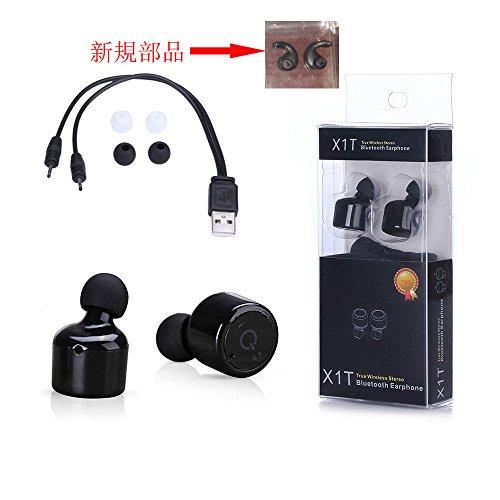 【IVLWE】 超軽量・超小型 Bluetoothイヤホン直径 18.5mm 1対の(2 pcs) ワイヤレス ブルートゥースイヤフォン音楽を聴く&通話 (黒)