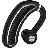 Bluetooth ヘッドセット ワイヤレス イヤホン Bluetooth イヤホン 片耳 ブルートゥースイヤホン 左右耳兼用 高音質 通話 ビジネス スポーツ 通勤 通学 車用V4.1 マイク内蔵 Iphone Android Windows PC スマートフォンに対応 ミニ 軽量 (ブラックシルバー)