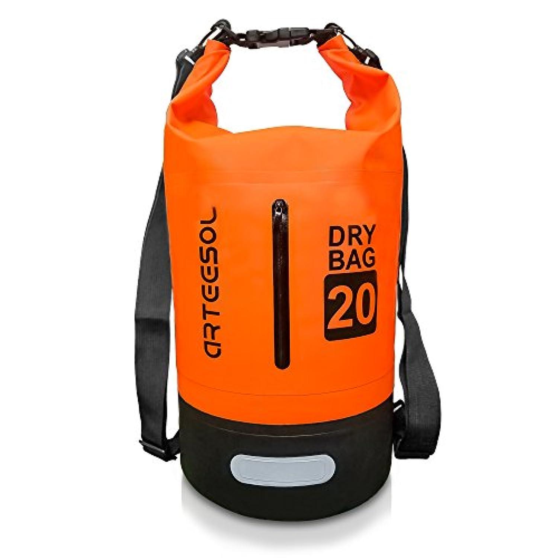 防水バッグ ドライバッグ Arteesol 大容量 ドラム型 厚手で丈夫 アウトドア 釣り キャンプ 海水浴 マリンスポーツ 旅行用 ショルダー 手提げ